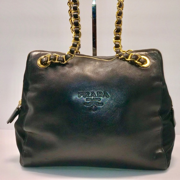 2a8a5f7c3cd1 ... aliexpress authentic prada milano leather chain shoulder bag 9cf84 69aa5